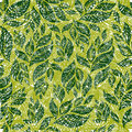 Seamless vintage grunge floral pattern with leafs Royalty Free Stock Photo