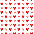 Seamless vintage heart pattern background Royalty Free Stock Photo