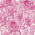 Seamless vintage inspired Rose Pattern, vector Royalty Free Stock Photo