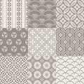 Seamless vintage japanese pattern set Royalty Free Stock Photo