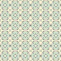 Seamless vintage pastel colored tiles pattern