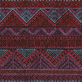 Seamless vintage pattern. Ethnic and tribal motifs. Grungy textu