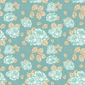 Seamless vintage Rose pattern Stock Image