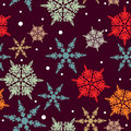 Seamless vintage snowflake background design abstract in colors Royalty Free Stock Photography
