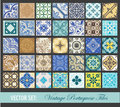 Seamless Vintage Tiles Background Collection