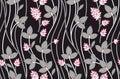 Seamless vintage unique flower pattern