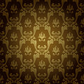 Seamless vintage wallpaper background old gold Royalty Free Stock Photo