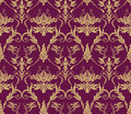 Seamless vintage wallpaper pattern Royalty Free Stock Photo