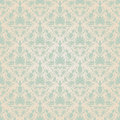 Seamless vintage wallpaper pattern abstract floral ornament vector illustration Stock Photo