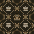 Seamless Vintage. Wallpaper Pattern. Vector Royalty Free Stock Photo