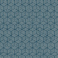 Seamless vintage worn out 3D line box pattern background.