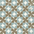 Seamless vintage worn out geometry assemble pattern background.