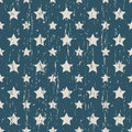 Seamless vintage worn out star shape pattern background.