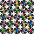 Seamless vinyl records pattern or background Royalty Free Stock Image