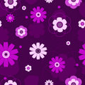 Seamless violet flowers pattern. Royalty Free Stock Photography