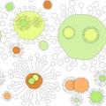 Seamless Virus Flowers