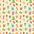 Seamless virus pattern Royalty Free Stock Photos