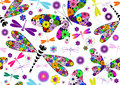 Seamless vivid pattern Stock Photos