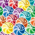 Seamless vivid swirl pattern Stock Photos