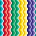 Seamless vivid wave pattern Stock Photos