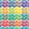 Seamless vivid wave pattern Royalty Free Stock Photos