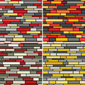 Seamless wall patterns Royalty Free Stock Images