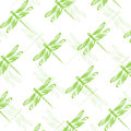 Seamless wallpaper dragonfly Royalty Free Stock Photos
