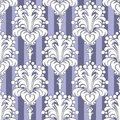 Seamless Wallpaper with floral Ornament on striped Background Royalty Free Stock Photo
