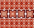 Seamless wallpaper with flower ornamentation Royalty Free Stock Photo