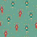 Seamless wallpaper with harlequins harliquins juggling balls Stock Images