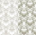 Seamless wallpaper in mirror effect Royalty Free Stock Photography