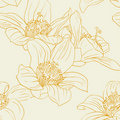 Seamless wallpaper with orchid flowers Royalty Free Stock Photo
