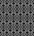 Seamless wallpaper pattern vector black on white Royalty Free Stock Photo