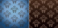 Seamless wallpaper set vector vintage background Stock Image