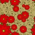 Seamless Wallpaper Tile Flower Stock Photos