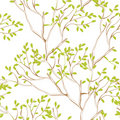 Seamless wallpaper with tree branches Royalty Free Stock Photos