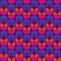 Seamless Warm Retro Pattern Royalty Free Stock Photography