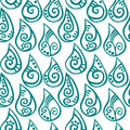 Seamless water drops patterned rain with tribal patterns inside background Royalty Free Stock Photos