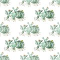 Seamless watercolor cactuses pattern on white Royalty Free Stock Photo