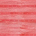 Seamless watercolor Christmas pattern background with white tracery on red watercolor background Royalty Free Stock Photo
