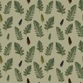 Seamless pattern from original leaves in autumn.