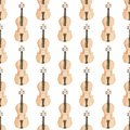 Seamless watercolor pattern with violin on the