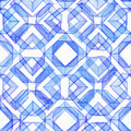 Seamless watercolor texture, based on blue hand drawn imperfect lines