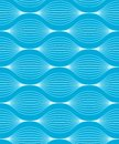 Seamless wave pattern vector illustration of a blue with two global colors Stock Photos