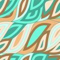 Seamless Wave Pattern, Waves Background. Wallpaper Design. Vector
