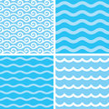 Seamless wave patterns Royalty Free Stock Photo