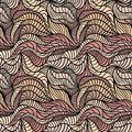 Seamless waves hand-drawn pattern Royalty Free Stock Images