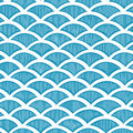 Seamless waves pattern vector hand drown illustration Stock Image
