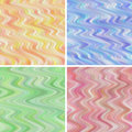Seamless wavy backgrounds collection of four and soft Royalty Free Stock Images