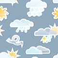 Seamless Weather Background Stock Photo
